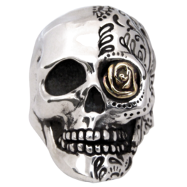 man damn stainless steel rings goat size ring vampire evil skull product